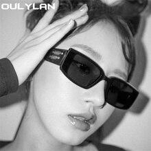 Square Sunglasses Rectangle Eyewear Driving Vintage Women Outdoor Oulylan UV400 Luruxy