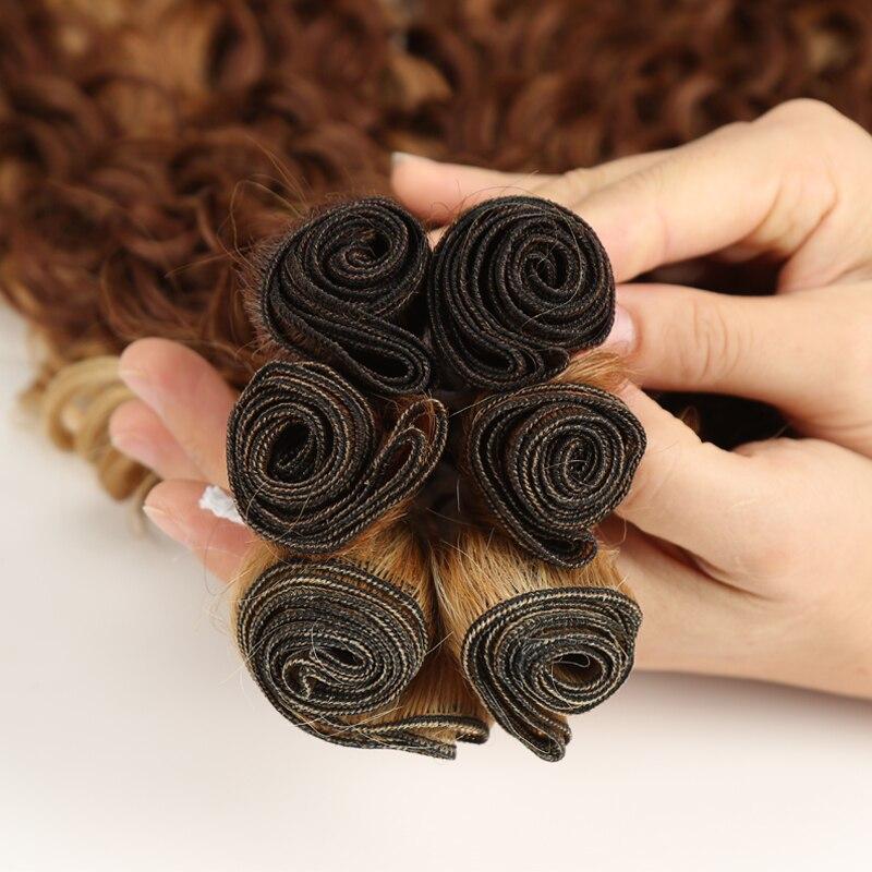 encaracolado pacotes ombre marrom 24-28 polegada 6
