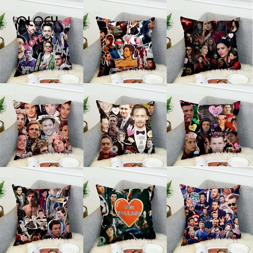 Captain America / Iron Man / Tom Holland Spiderman / Rock Polyester Pillowcase Home Bedroom Hotel Car Seat Decorative Pillowcase