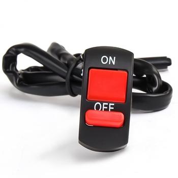 Uniwersalne przełączniki motocyklowe złącze kierownicy przełączniki przycisk włączania wyłączania dla KTM 350XC-F 450XC-F 505XC-F 350XCF-W 250XC-W tanie i dobre opinie LJMOTOP CN (pochodzenie) Switches 0 05kg 0inch Motorcycle Switches ON OFFA Button Metal Plastic on off switch for general lights and hazard light