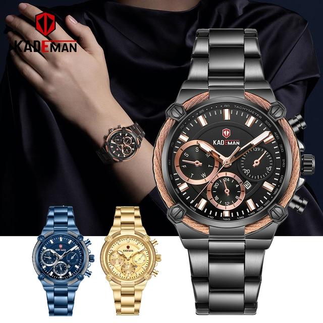KADEMAN Luxury Brand Ladies Watch Fashion 3ATM Waterproof Quartz Watch For Female With Stainless Steel Belt Bayan Kol Saati 836