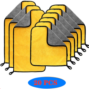 Image 1 - 3/5/10/20 stücke Auto Waschen Mikrofaser Handtuch Reinigung Trocknen Tuch Farbe Pflege Tuch Detaillierung Auto Waschen Handtuch reinigung Lumpen Auto Werkzeuge