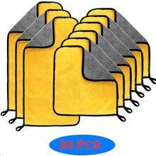3/5/10/20 sztuk myjnia samochodowa ręcznik z mikrofibry ściereczki do czyszczenia osuszania do pielęgnacji lakieru tkaniny szczegółowo ręcznik do mycia samochodu ściereczki do czyszczenia narzędzia samochodowe