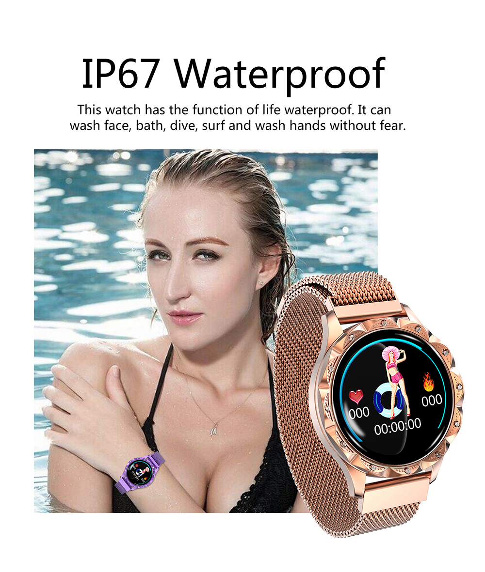 2019-D18-IP67-Smart-Watch-Women-Waterproof-Heart-rate-Monitoring-blood-pressure-Watch-sport-Fitness-Bracelet (4)