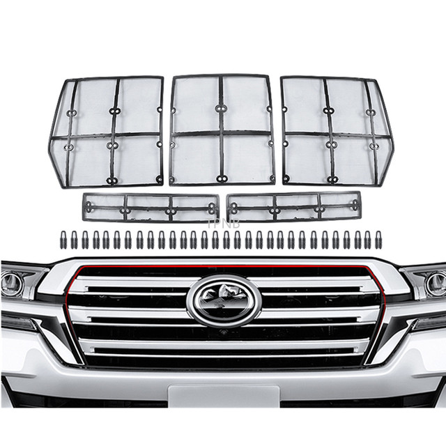 Car Front Grill Insect Net for Toyota Land Cruiser 200 LC200 Fj200 2008 2009 2010 2011 2012 2013 2014 2015 2016 2017 2018