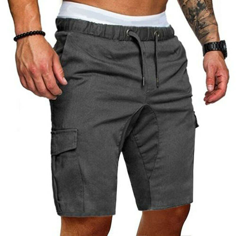 Summer Hot Stylish Men Cargo Work Shorts Elasticated Casual Combat Shorts New Fashion Keen Length Trousers