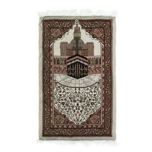 Image 4 - 110x65cm 담요 자수면 양탄자 카펫 홈 이슬람 무슬림 술 태피스트리 침실 식탁보 경량 선물 휴대용