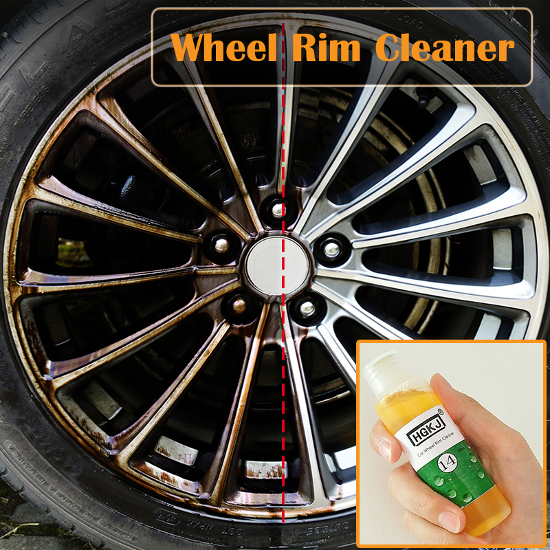 HGKJ 50ML Car Rim Cleaner Car Wheel Cleaning 1:5 Diluted Concentrate Liquid Decontamination Rust Removal Car Accessories