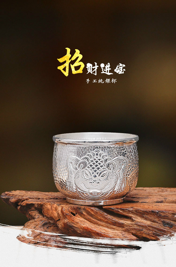 Sorte fortuna prata esterlina copo s999 prata