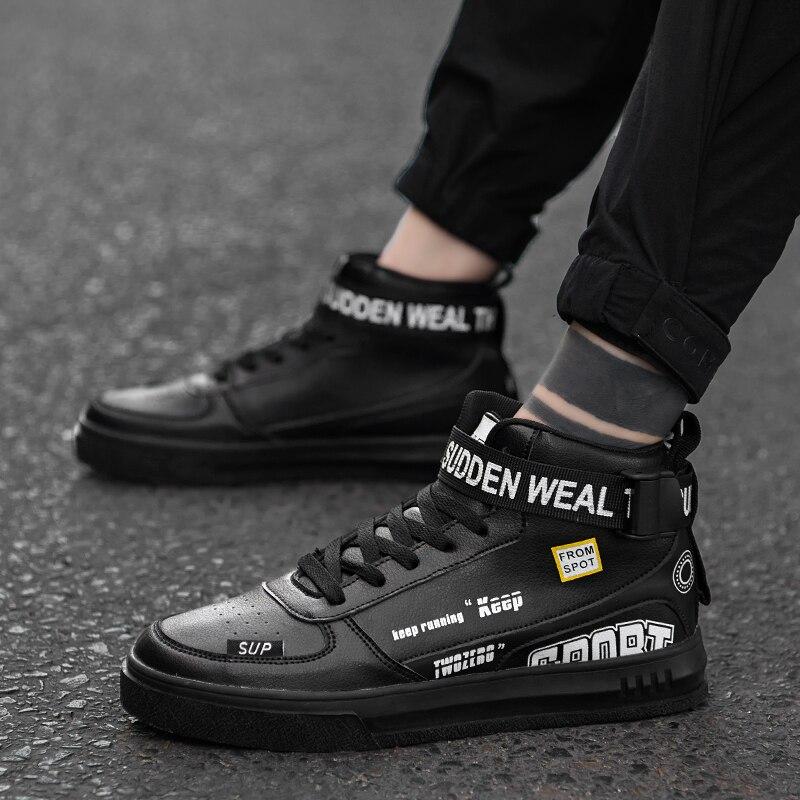 Мужская Вулканизированная обувь, теплая обувь для тенниса, новая Вулканизированная обувь для весны и осени, 2019