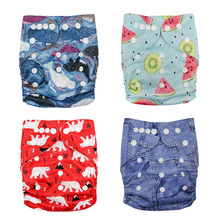 Baby Washable Reusable Real Cloth Pocket Nappy Diaper Cover Wrap Suits Birth To Potty One Size Nappy Inserts Cartoon Diapers happyflute os bamboo velour fitted cloth diaper ai2 onesize no synthetic material to touch baby s skin birth to potty 5 15kg