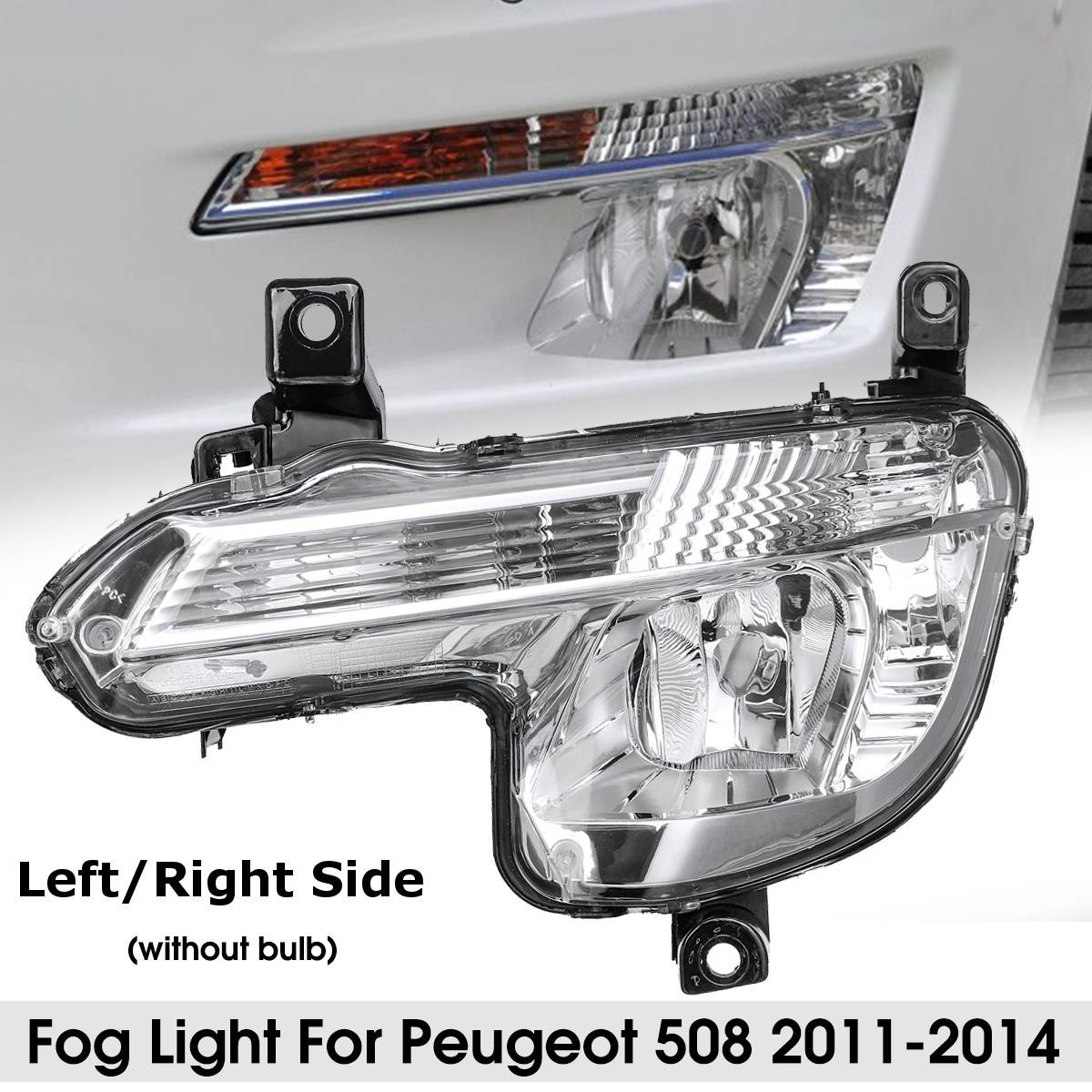 Left Right Clear Car Front Fog Light With Indicator 6206W2 9670476180 Without Bulb For Peugeot 508 2011 2012 2013 2014