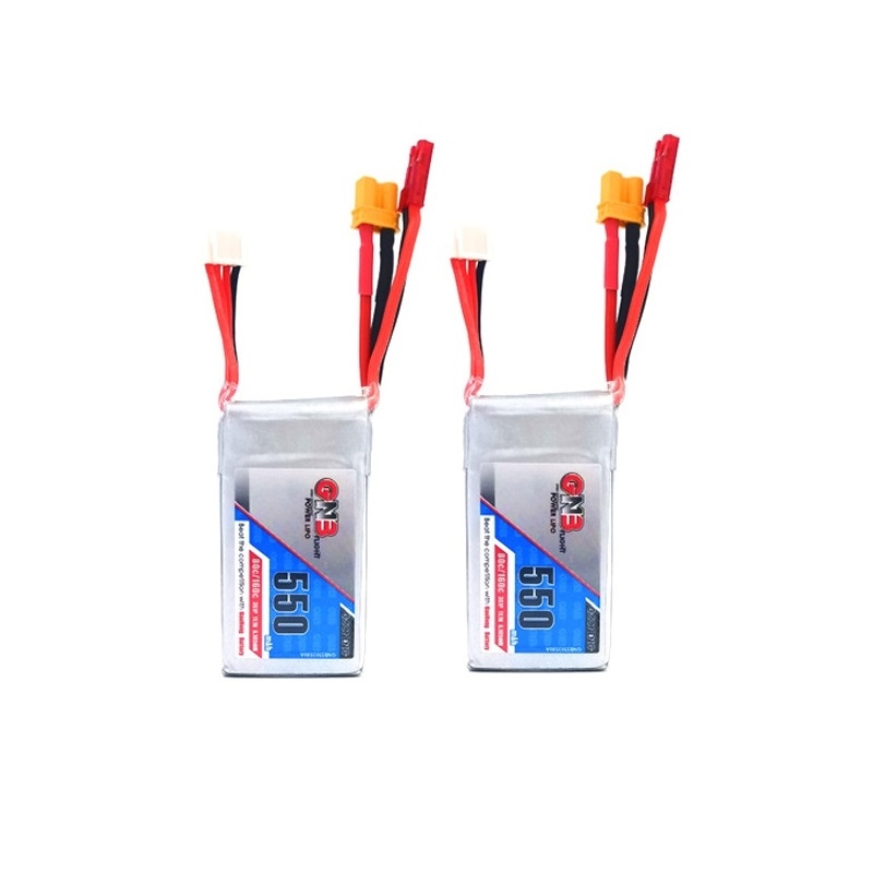 2PCS Gaoneng GNB <font><b>550mAh</b></font> 11.1V 80C <font><b>3S</b></font> Lipo battery JST/XT30 Plug/charger for Lizard95 Torrent 110 FPV Racing Drone RC Quadcopt image