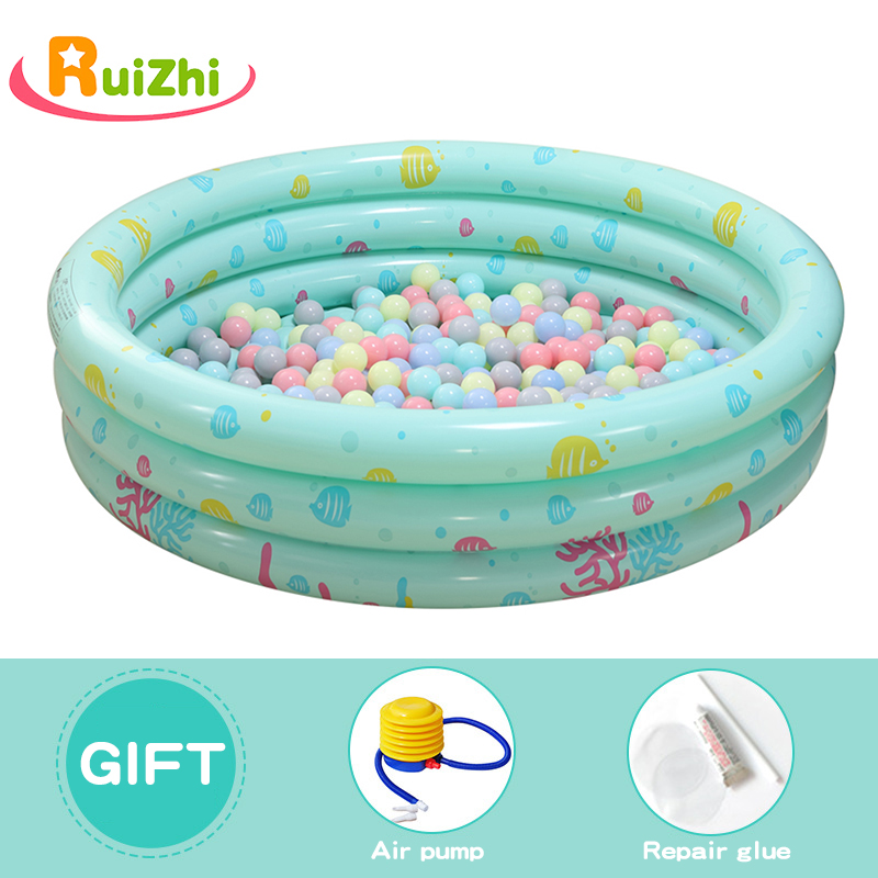 Image 5 - Ruizhi Children Round Swimming Pool Play Tent Inflatable Pool Ocean Ball Pool Pit Indoor Outdoor Folding Bath Kids Toys RZ1095-in Ball Pits from Toys & Hobbies