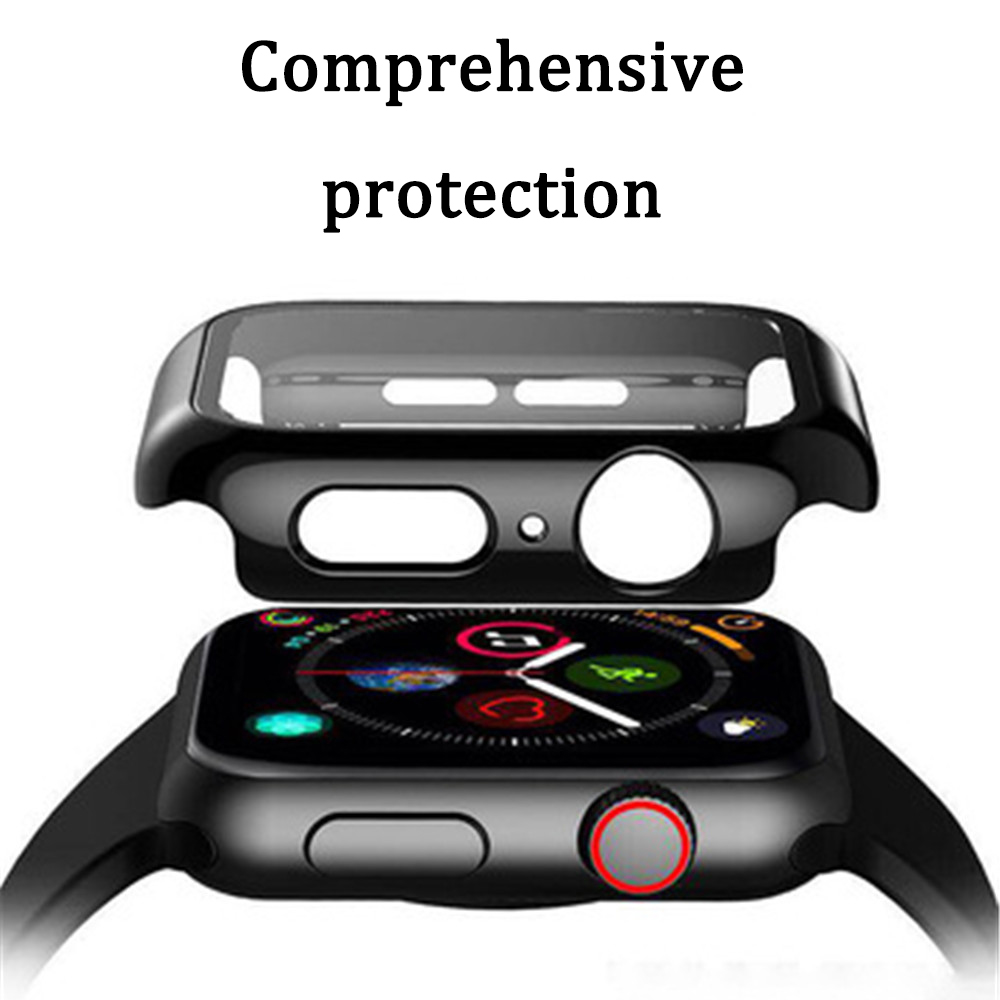 Watch case for Apple iWatch 1/2/3/4/5 generation tempered film case all-in-one Apple Watch soft protective cover accessories Pakistan