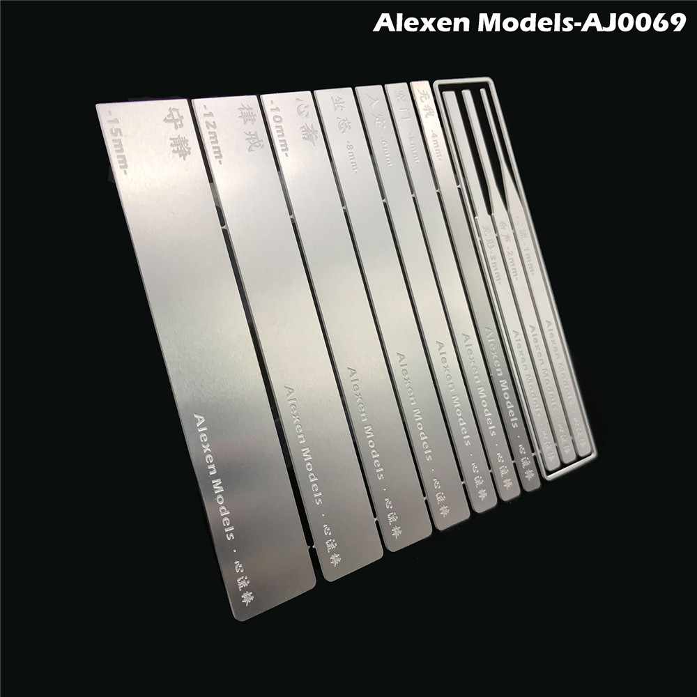 10 In 1 Stainless Steel Model Grinding Stick File Set Hobby Craft Tools For Gundam Model Accessories
