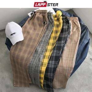 Image 1 - LAPPSTER נשים Streetwear משובץ מכנסיים 2020 Harajuku גבוה מותן רצים קוריאני סגנון מכנסי טרנינג גבירותיי סתיו מכנסיים בתוספת גודל