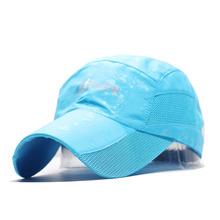 Nowe wiosenne i letnie męskie i damskie szybkoschnące czapki odkryte czapki baseballowe cienkie odcienie sportowe kapelusze przeciwsłoneczne kaczka język czapki netto tanie tanio UVRCOS Ochrona przed słońcem Na wiosnę i lato Stałe Dla osób dorosłych CN (pochodzenie) COTTON SPORTS Unisex Na co dzień