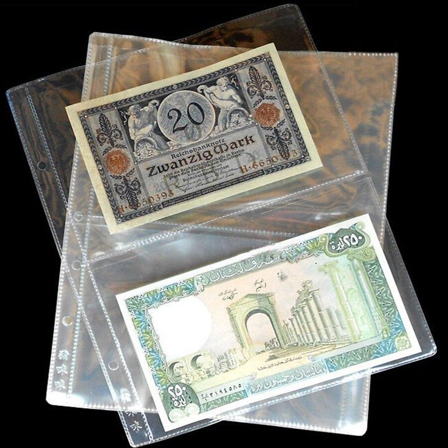 20 карманов за партию, 10 шт./партия, бумага для банкнот, страниц, банкнот, прозрачный альбом, бумага для банкнот, почтовые штампы, значки, колле...