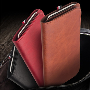 Image 3 - MYL 38W Multi function Handmade Pure Genuine Leather Wallet For iPhone 11 Pro Max 7 8 Plus Xs Max Real Cowhide Pouch Bags Case