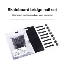 8pcs Spare Speed Racing Skateboard Fixing Cruiser DIY Longboard Hardware Replacment Part Repair Truck Screw Nut Set Durable Home
