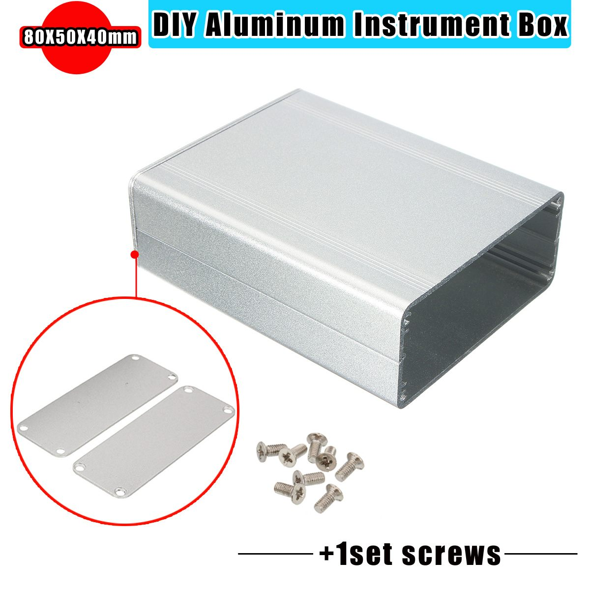 Portable Aluminum Splitted DIY Extruded Electronic Box Project Electronic DIY Enclousure Case DIY Tools Packaging Box