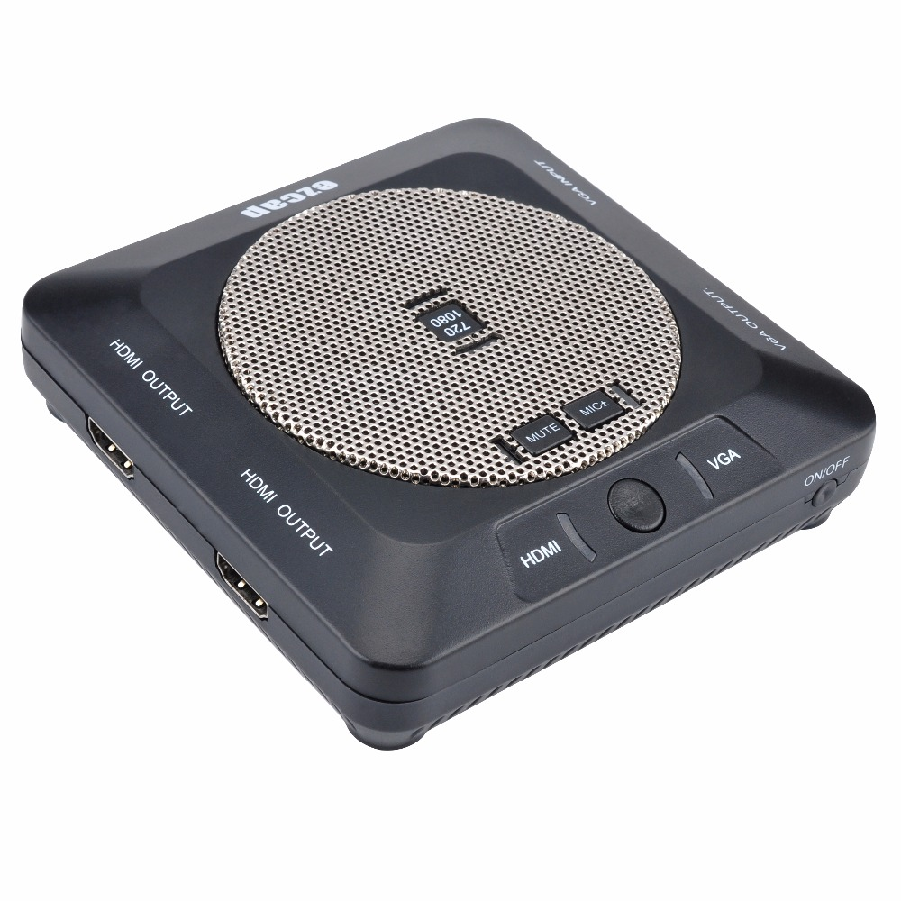 EZCAP289 New 1080P HD Video Lessons Lecture Capture/Recorder Card  HDMI/VGA Input Output Video Conference Recorder Built in Mic 2