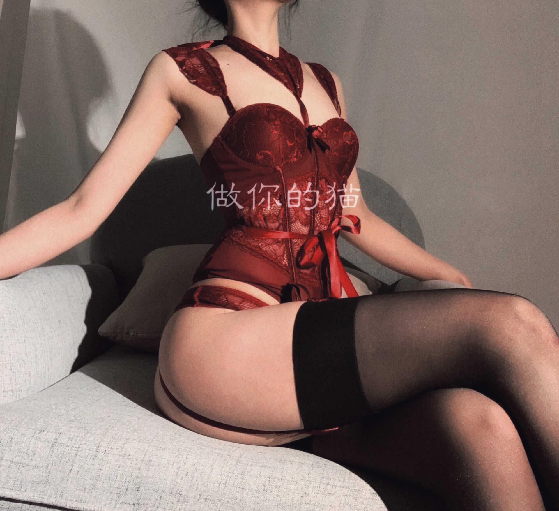 Fashion Pakaian Wanita Halter Bustier Atasan Paha Garter Belt Sexy Maid Kostum Cosplay Korset Renda Erotis Pakaian Dalam Wanita