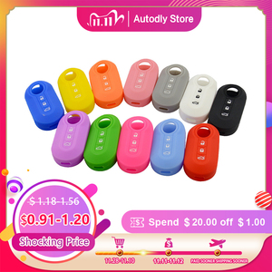 Image 1 - OkeyTech High Quality 3 Buttons Silicone Car Key Case Cover For Fiat 500 Flip Folding Remote Key Shell Fob Protecor