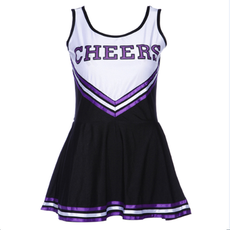 Ladies Sexy Baby Girl Shape Cheerleader Costume Stage Performance School Cheerleading Suits Uniform
