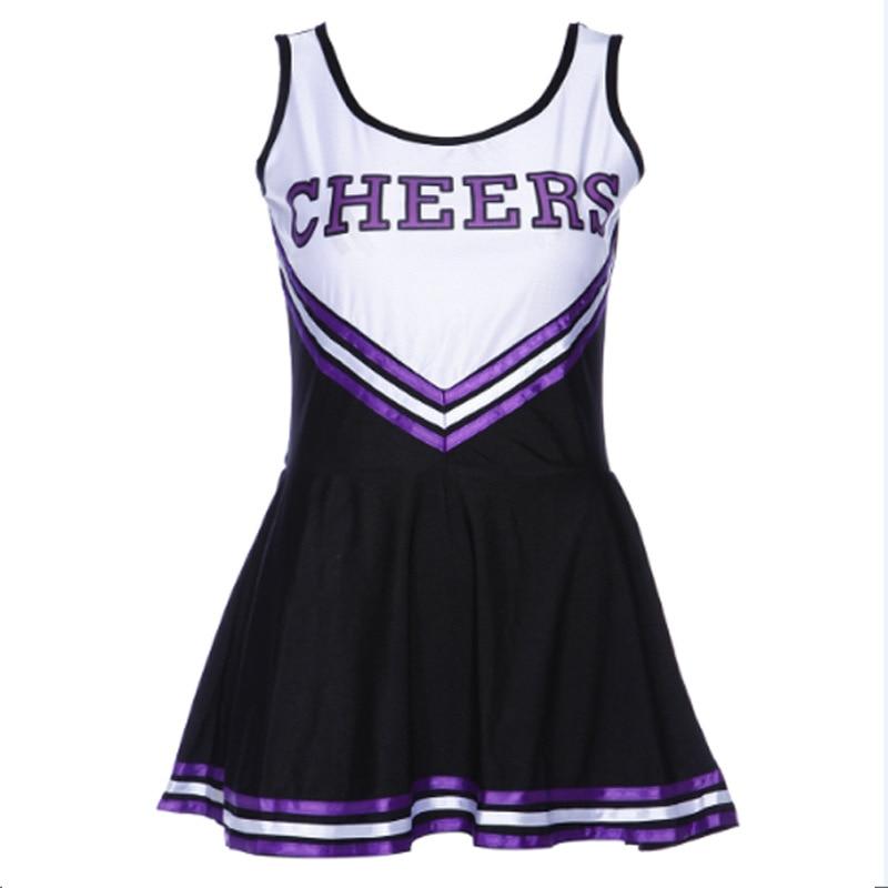 Ladies Sexy Baby Girl Shape Cheerleader Costume Stage Performance School Cheerleading Suits Uniform