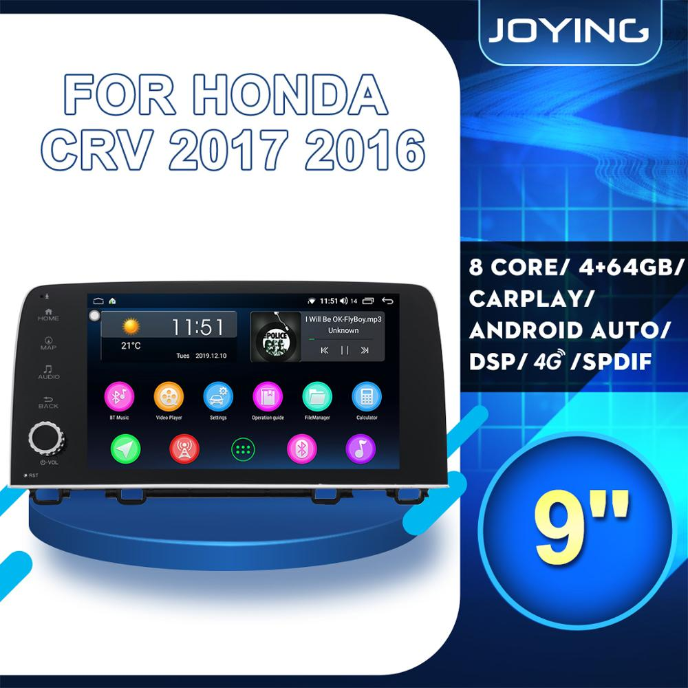 9Autoradio Android Radio Stereo 2 Din Head Unit For Honda CRV CR-V 2017 2016 Multimedia Player 4G Modem Carplay Split Screen image