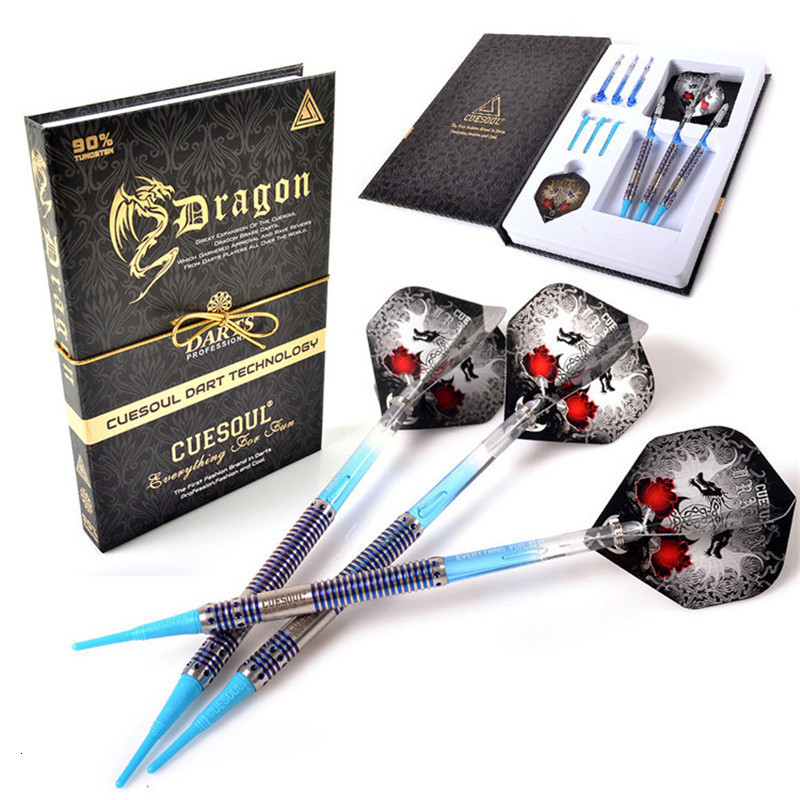 New CUESOUL 20g 14.5cm Professional 90% Tungsten Dart Barrel For Soft Tip Darts 3 Colors