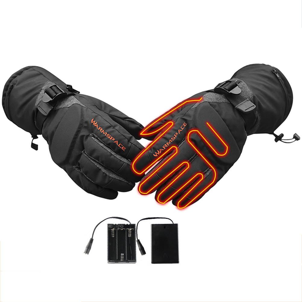 Winter Heated Gloves Battery Powered Heated Gloves Charging Gloves With Temperature Control For Outdoor Sports