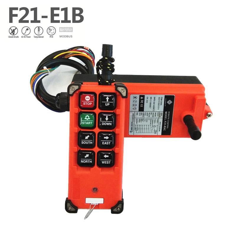 Industrial Remote Control F21-E1B Hoist Crane Lift Button Switch 8 buttons for truck hoist crane