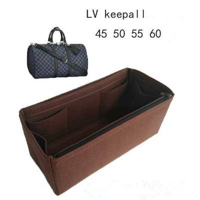 2020 New Felt Travel Liner Bag Keepalls 45 50 55 60 With Zip Support Bag Lined Compartment Storage Bag Large-capacity Bag
