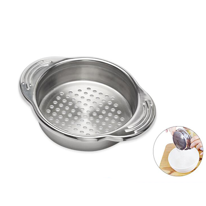 Stainless Steel Food Can Strainer Colander with Handles Universal Liquid Oil Drainer Sieve Remover Can Strainer for Canned Tuna image