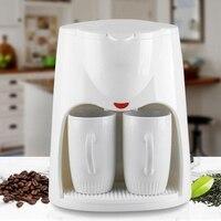 2 xícaras de café por gotejamento 500w elétrica automática máquina de café expresso a vapor portátil viagem ao ar livre máquina de café