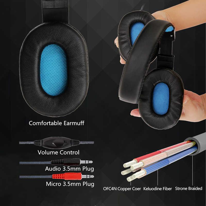 Auriculares con cable LED auriculares para juegos SY733 para ordenador auriculares con micrófono con cable para PS4/PC/ interruptor