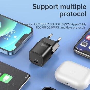 Зарядное устройство KUULAA USB Type C, для iPhone 12 Pro Max 11 Mini 8 Plus, 20 Вт 4