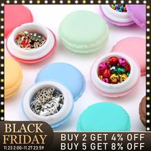 3pieces/lot candy color Macarons storage box portable Mini gift package box lovely jewelry package box case for Small items