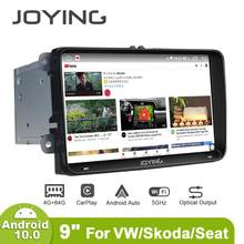 "Joying 9 ""autoradio android 10 unidade de cabeça estéreo rádio do carro para vw skoda rápido passat polo golf multimidia 4g carplay android auto(China)"