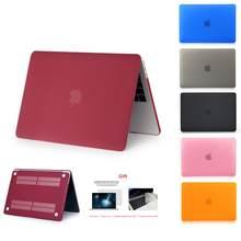 Novo cristal \ matte caso para apple macbook ar pro retina m1 chip 11 12 13 15 16 polegada, caso para 2020 pro13 a2338 a2289 a2179 + presente