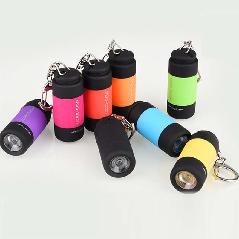 WasaFire Super Mini Flashlight USB Rechargeable Q3 LED Flashlight Keychain Portable Torch Lamp Camping Working Small Lantern
