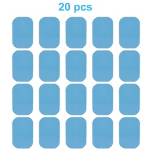 USA Stock 40 Pieces Dedicated Gel Pads EMS Trainer Replacement Gel Sheet Massage Fittness EMS Abdominal Muscle Stimulator