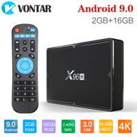 X96H Android 9.0 TV Box 4GB 64GB H603 Quad core 6K 2.4G 5G Dual Wifi BT4.1 Google Player Youtube Set top box X96 H 4GB 32GB TX6
