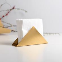 Nordic Golden Stainless Steel Towel Rack Cafe Hotel Dining Table Metal Napkin Tissue Holder Paper Towel Holder Desktop Decor