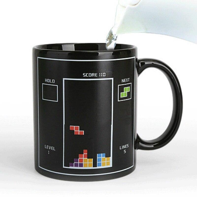 Tetris descoloração copo de água jogo temperatura copo de leite gosto dos desenhos animados carga cor café chá caneca cerâmica|Can.| |  - title=
