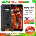 OUKITEL WP5 Pro 8000 мАч прочный мобильный телефон 4 Гб + 64 Гб 5,5 ''Android 10,0 13MP сзади Камера IP68 Водонепроницаемый смартфон