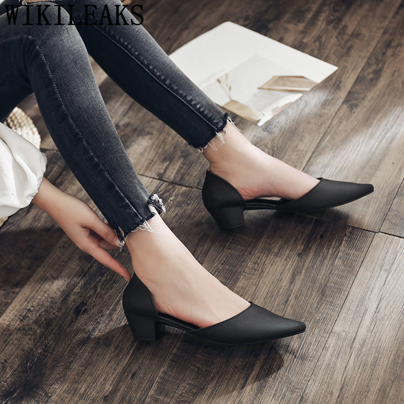 Pointed Heels Fashion Low Heel Shoes Elegant Shoes For Woman Party Shoes Chaussure Mariage Femme Buty Damskie Туфли На Каблуке 4